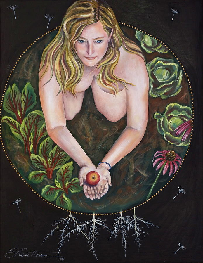 Woman Art Painting - Sacred Circle 1 by Sheri Howe