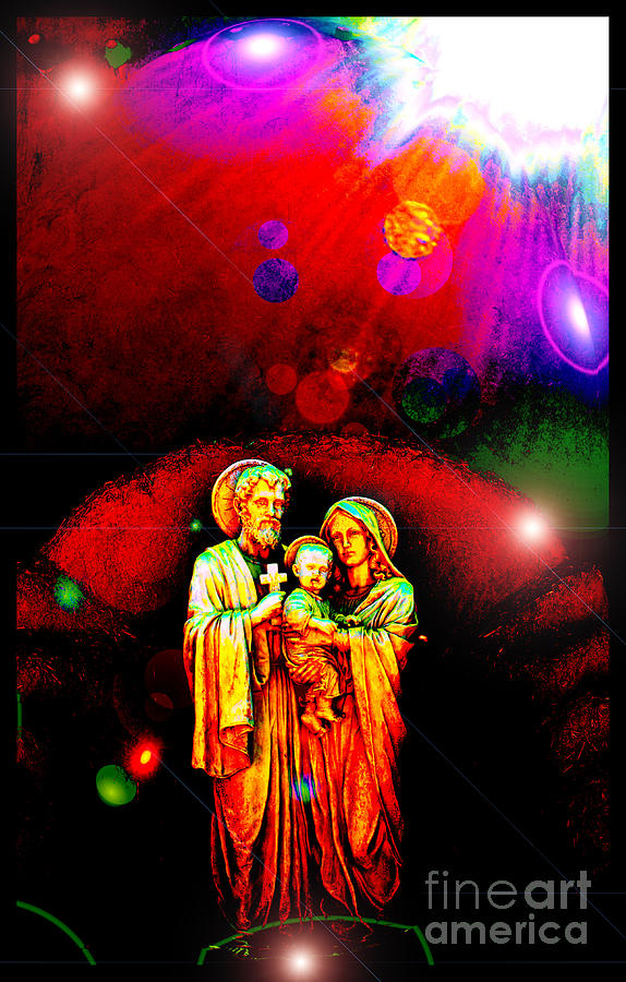 Holy Family Photograph - Sacred Family In Cosmos by Susanne Still