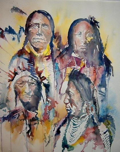 Sacred Feathers Painting by Ron Bates