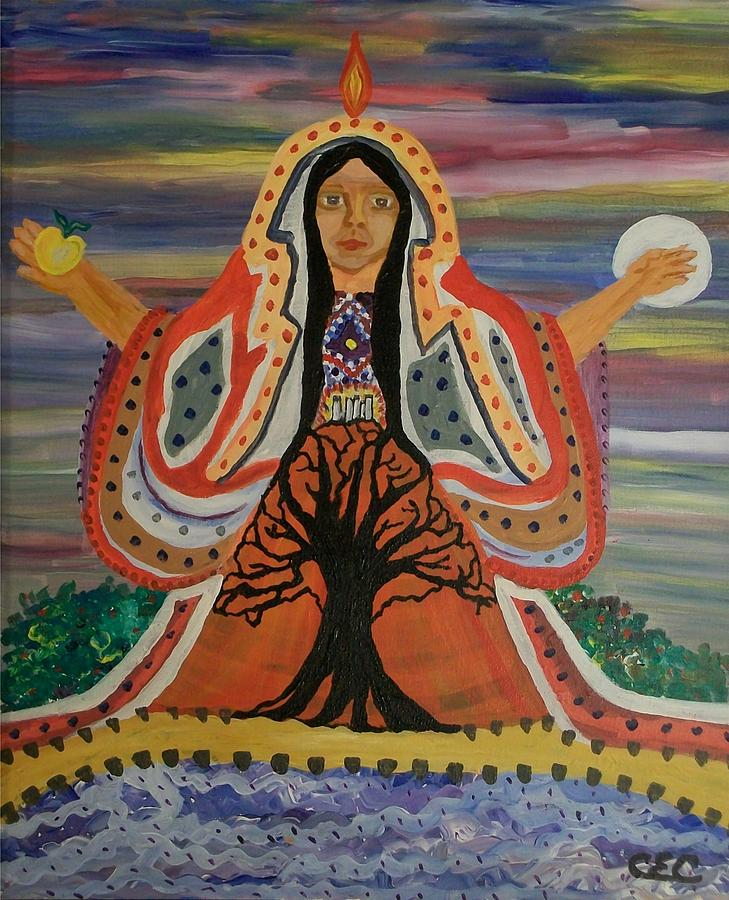 Sacred Painting - Sacred Feminine by Carolyn Cable