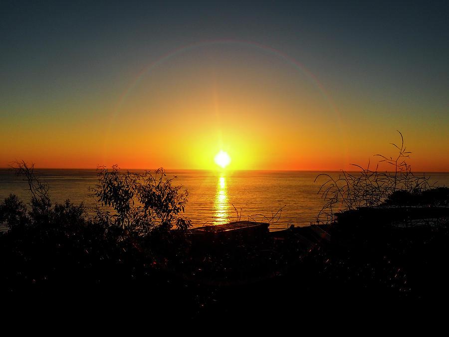 Sacred Geometric Sunset Photograph
