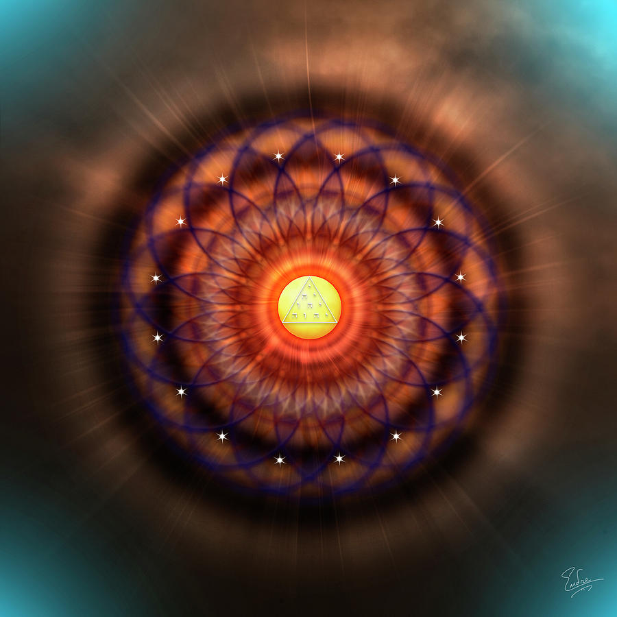 Endre Photograph - Sacred Geometry 586 by Endre Balogh