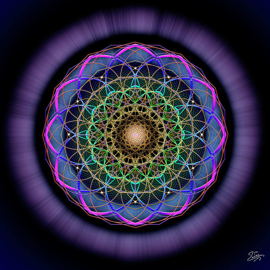 Endre Photograph - Sacred Geometry 624 by Endre Balogh