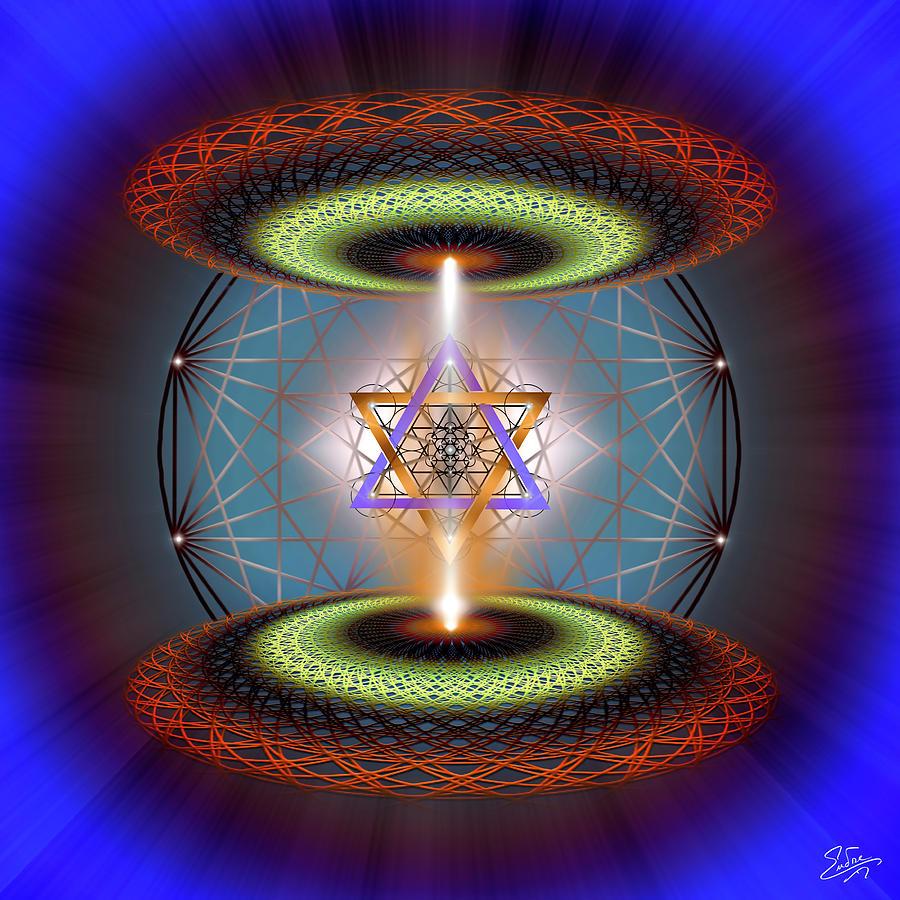 Endre Digital Art - Sacred Geometry 718 by Endre Balogh
