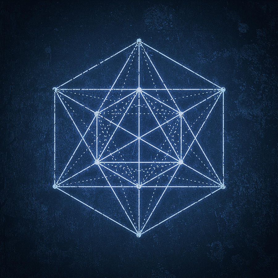 sacred geometry minimal hipster symbol art digital art by philipp rietz