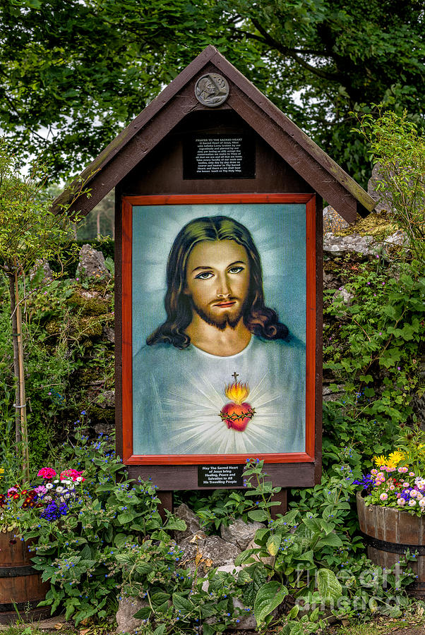 Catholic Photograph - Sacred Heart by Adrian Evans