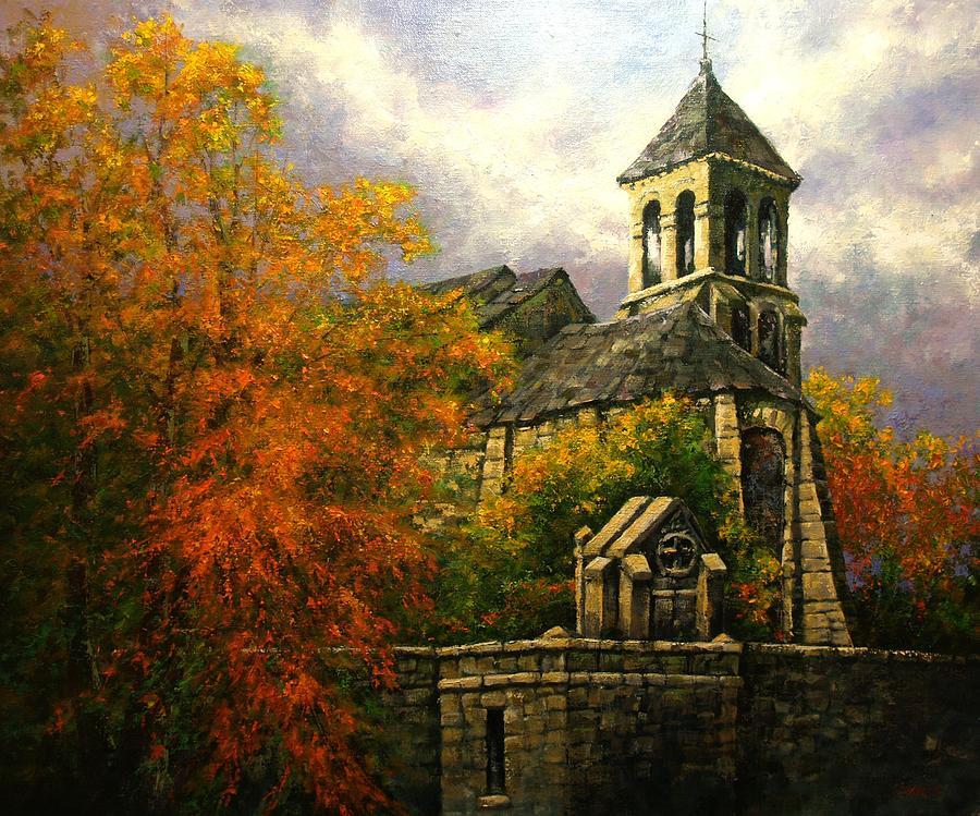 Paris Painting - Sacred Heart Chapel Paris by Jim Gola