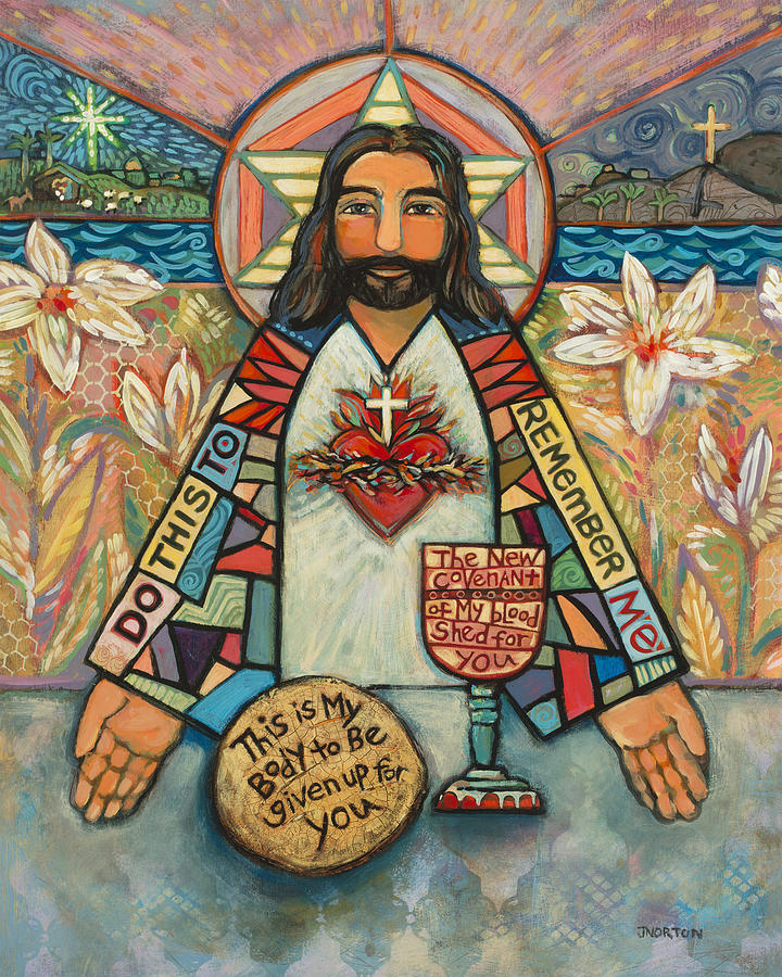Sacred Heart Of Jesus Painting By Jen Norton