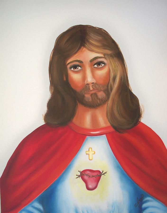 Jesus Painting - Sacred Heart Of Jesus by Joni McPherson