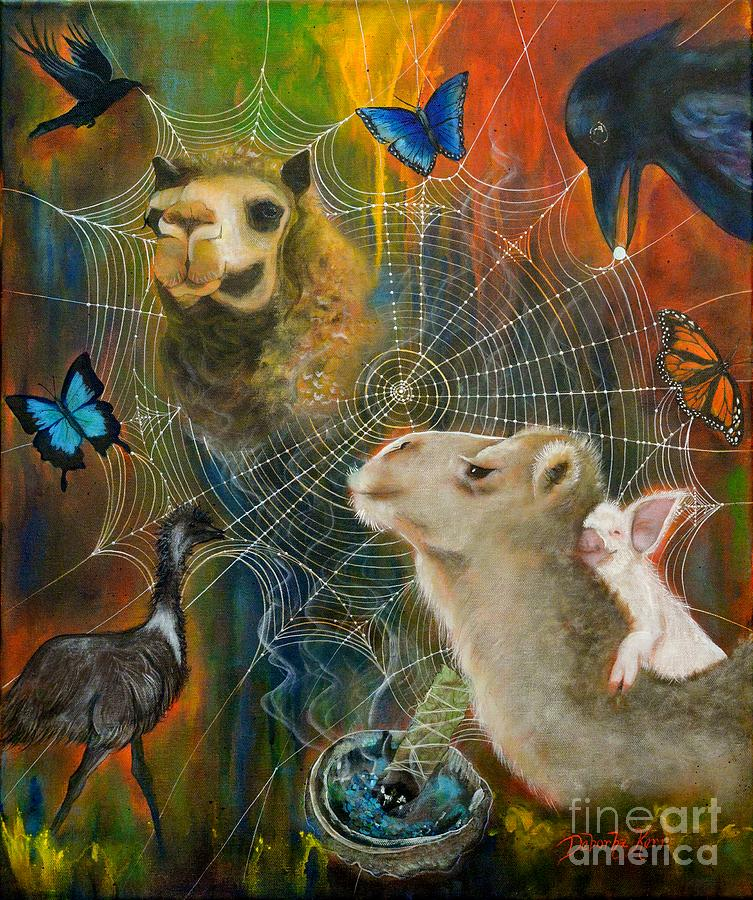 Animals Painting - Sacred Journey by Deborha Kerr
