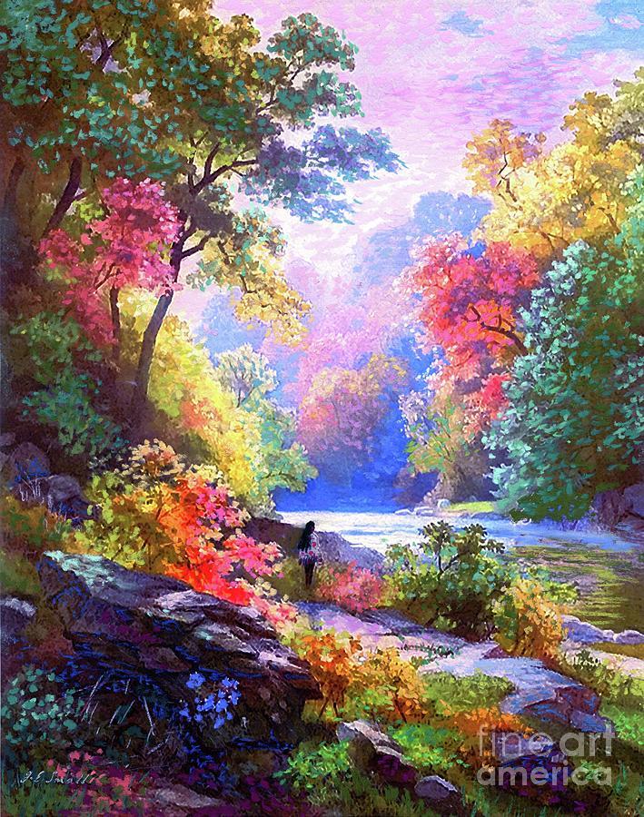 Sacred Landscape Meditation Painting
