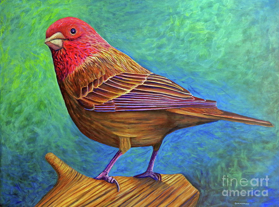Bird Painting - Sacred Space by Brian  Commerford