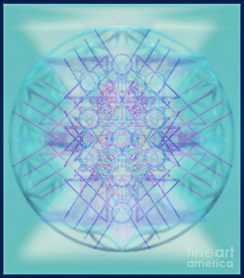 Tree Of Life Digital Art - Sacred Symbols Out Of The Void A2b by Christopher Pringer