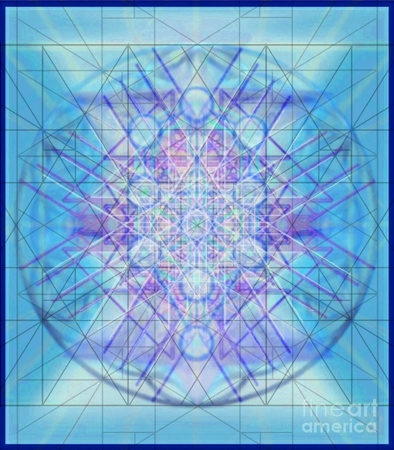 Multiple Layers Digital Art - Sacred Symbols Out Of The Void A3c by Christopher Pringer