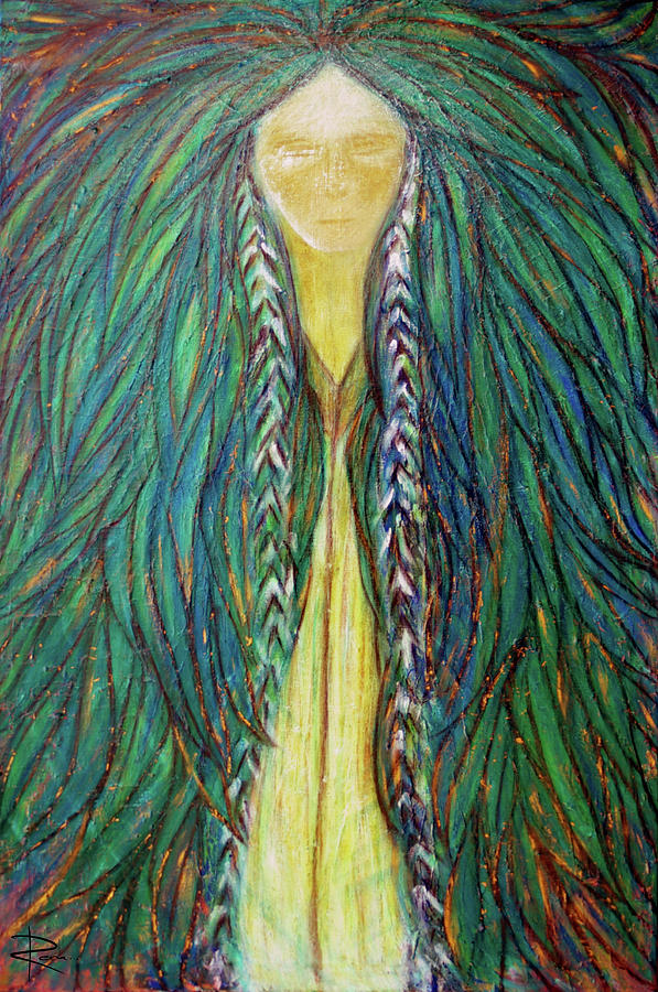 Sacred Teacher Painting - Sacred Teacher by NARI - Mother Earth Spirit