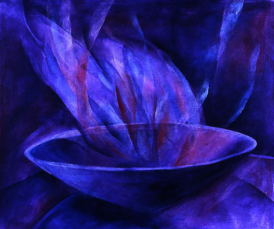 Mystical Painting - Sacred Vessel II by Sue Reed