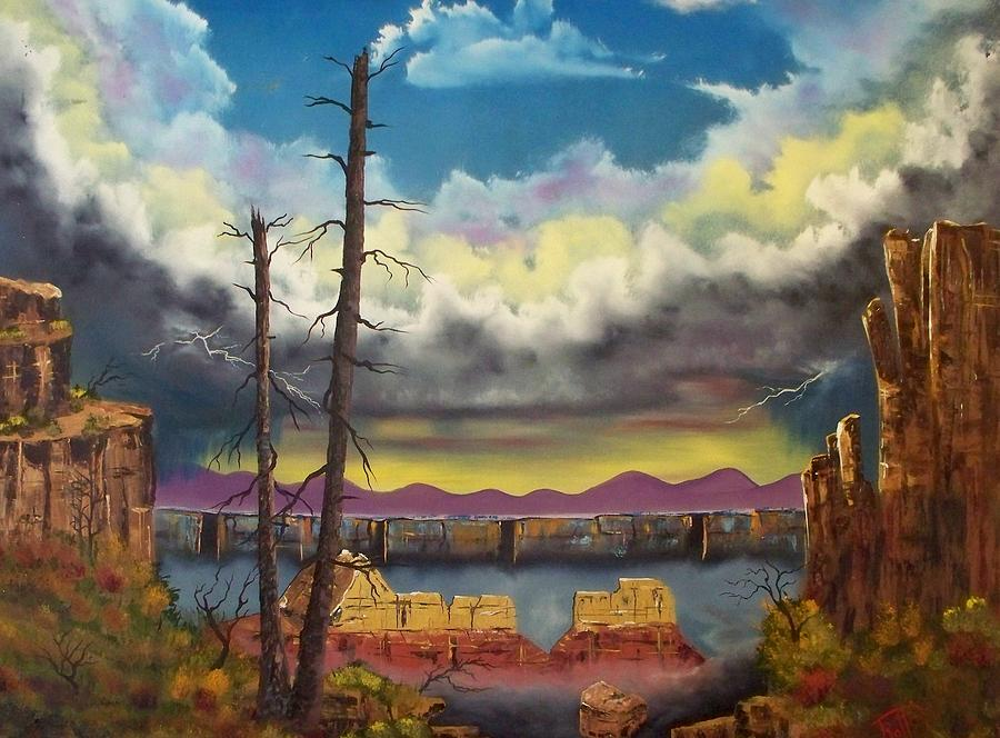 Arizona Painting - Sacred View by Patrick Trotter