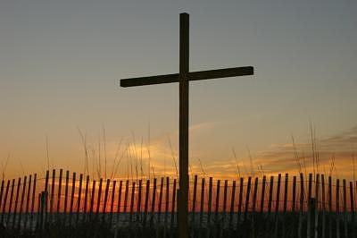 Cross At Sunrise Photograph - Sacrifice At Sunrise by Chris Jones