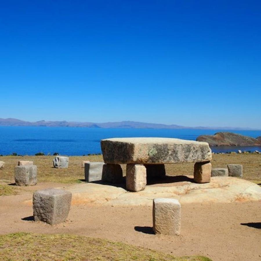 Travel Photograph - Sacrificial Stone Table On The Island by Dante Harker