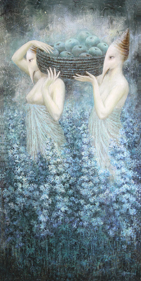 Flowers Painting - Sacrifiction In The Moon Light by Lolita Bronzini