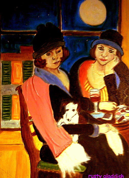 1920s Painting - Sad Cafe by Rusty Gladdish