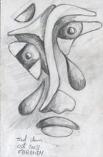 Sad Clown Drawing By Ebrahim Metwaly