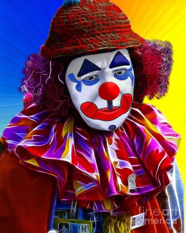 Sad Clown Painting - Sad Clown by Methune Hively