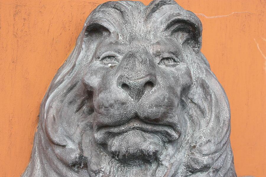 Statue Photograph - Sad Lion by Erin Rosenblum