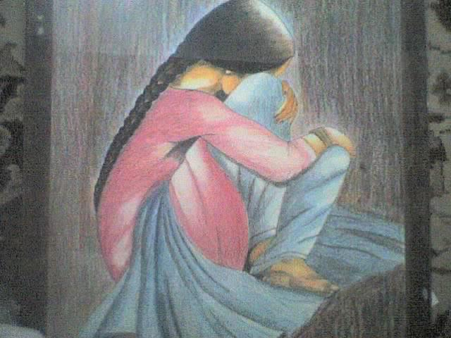 sad Painting by Rameez Haider