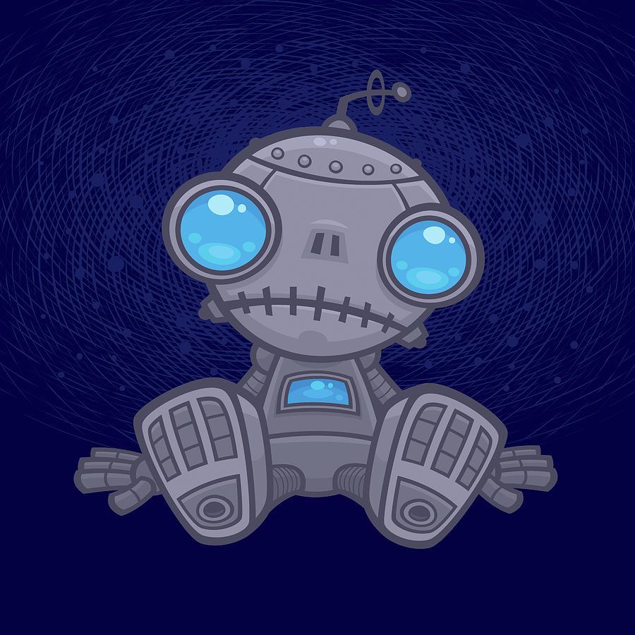 Sad Robot Digital Art
