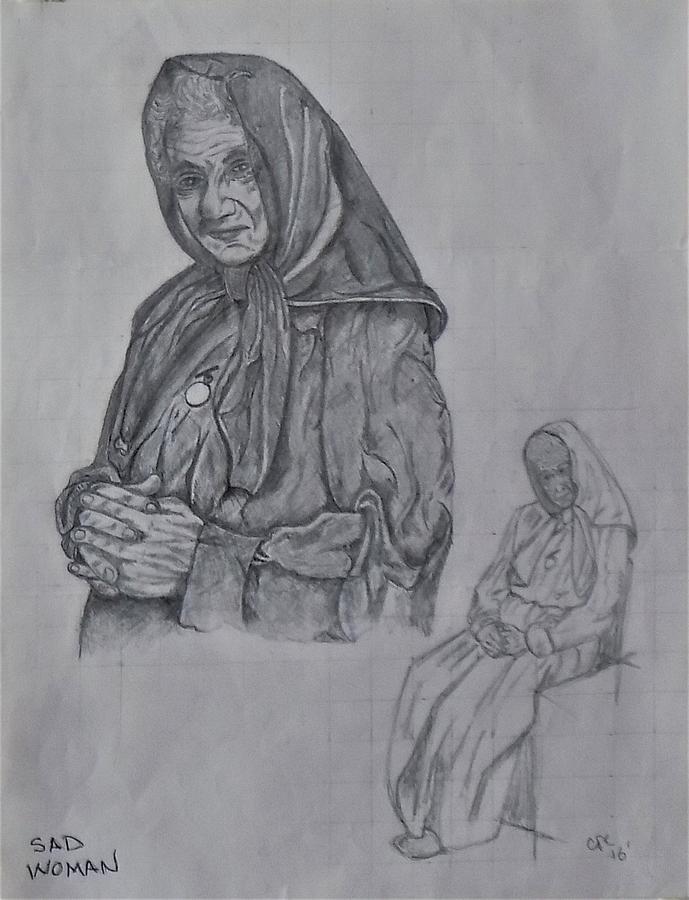 sad woman by Chuck Caputo
