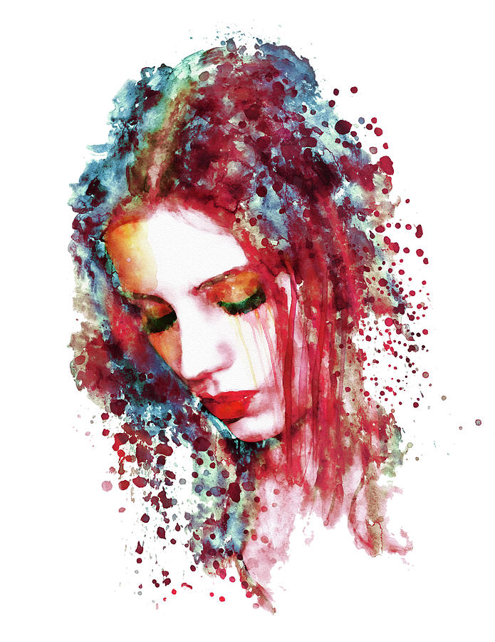 Sad Woman print
