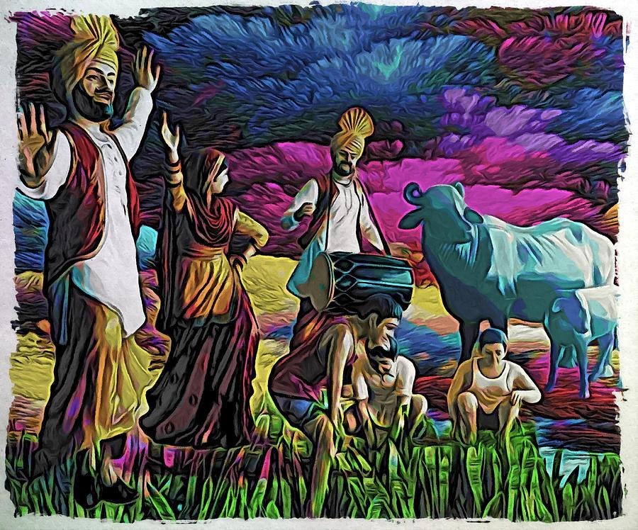 Punjab Digital Art - Sadda Punjab by Bliss Of Art