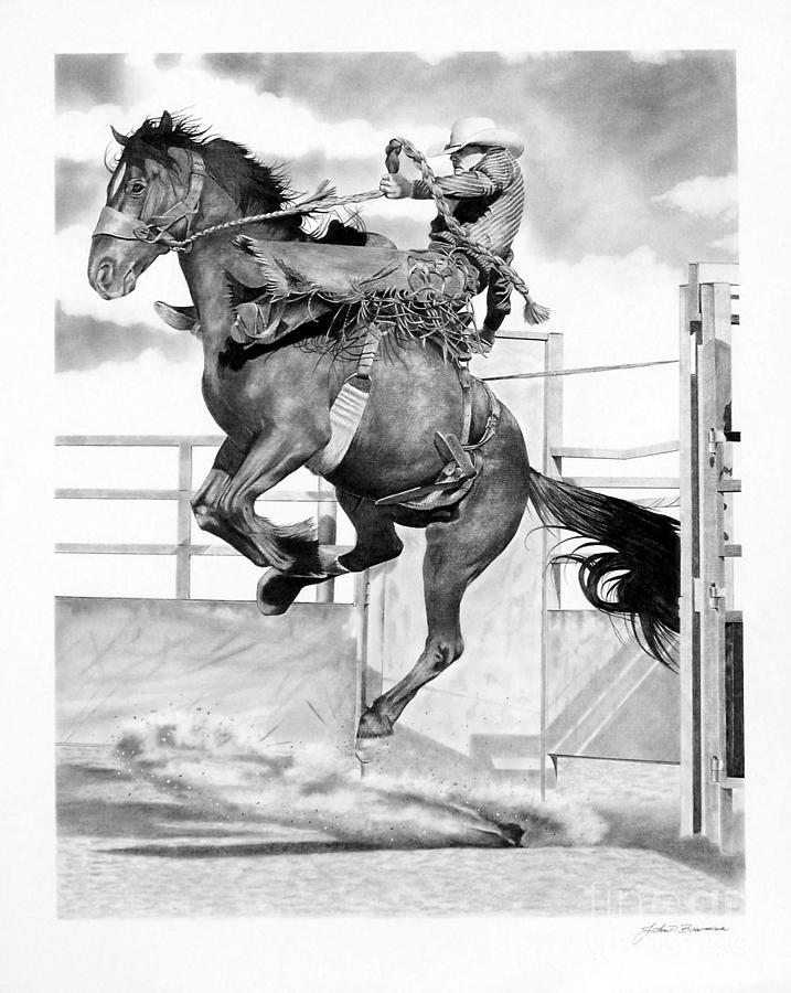saddle bronc riding coloring pages - photo#35