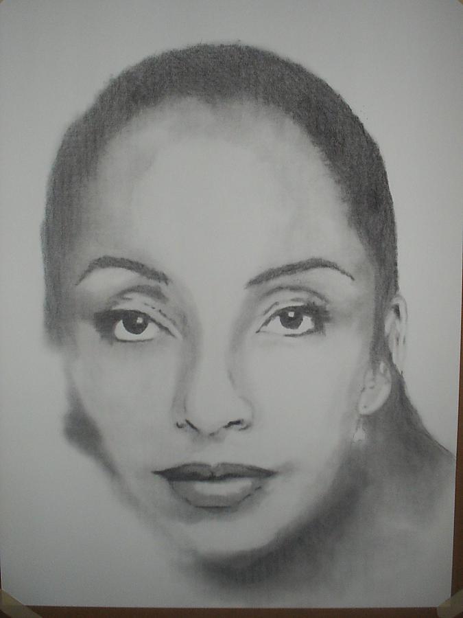 Songstress Drawing - Sade by B Jaxon
