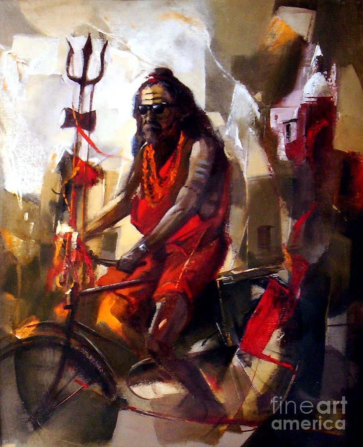 Indian Painting - Sadhu by S Parnam Singh