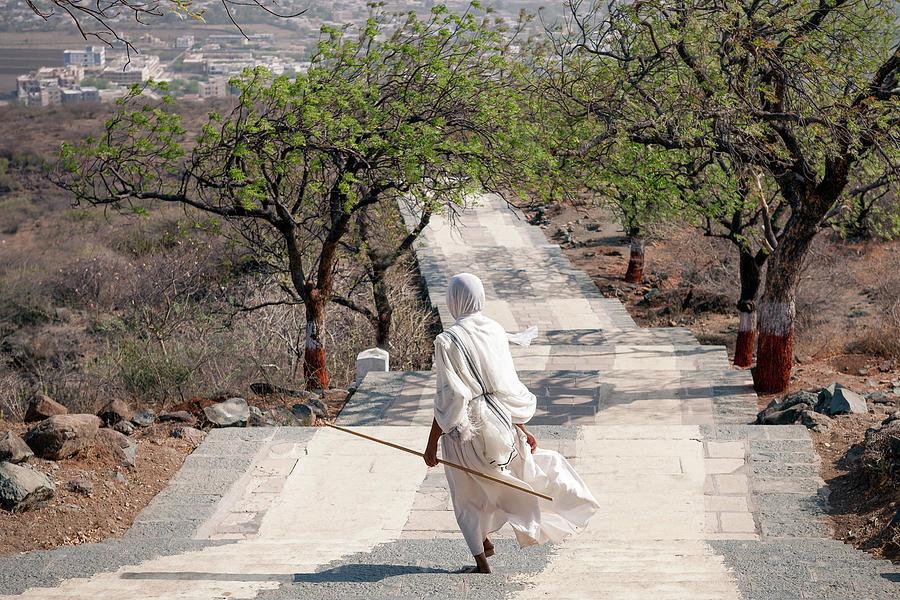 India Photograph - Sadhvi by Marji Lang