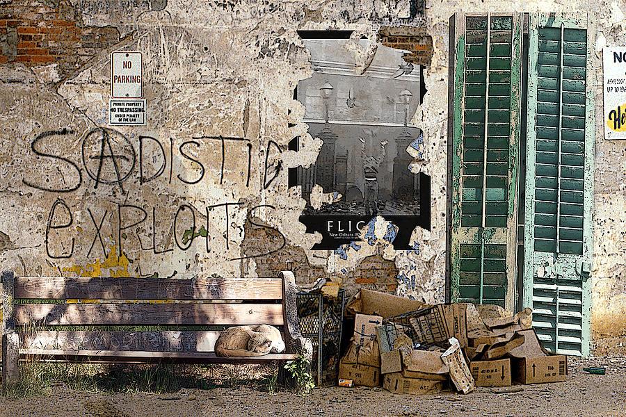 Urban Landscape Digital Art - Sadistic Exploits by Tom Romeo