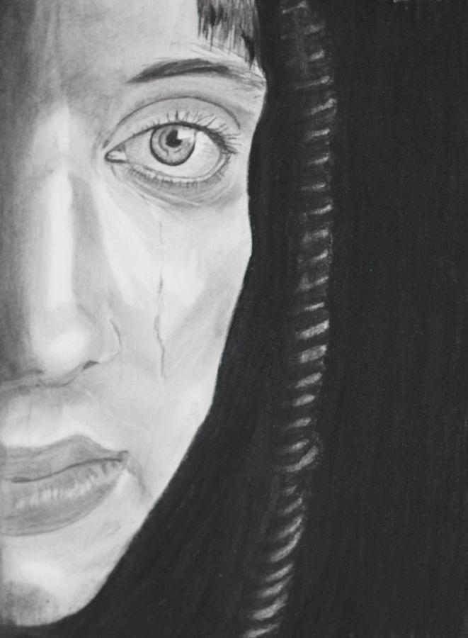 Sadness Drawing by Cathy Jourdan