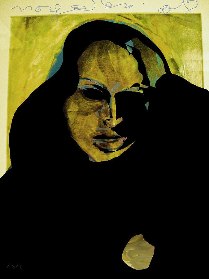 Woman Painting - Sadness by Noredin Morgan