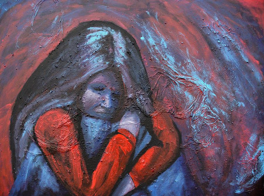 Sadness Painting by Sarah Crumpler  Sad Paintings