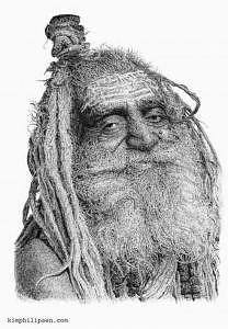 India Drawing - Sadue by Kim Philipsen