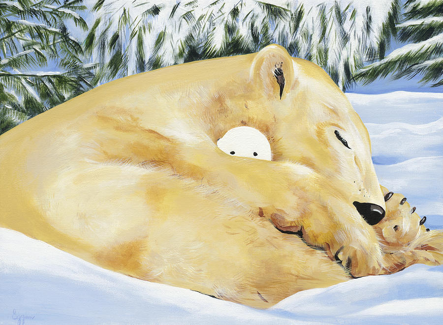 Polar Bear Painting - Safe Baby by Michelle  Eggan