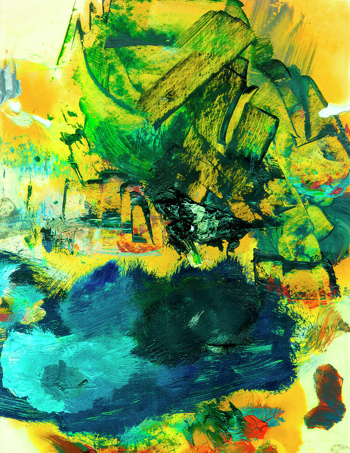 Abstract Painting Painting - Safe Harbor #305 by Donald k Hall