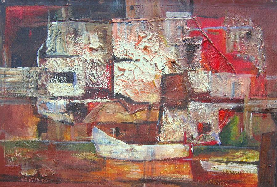 Abstract Painting - Safe Harbour by Liz McQueen