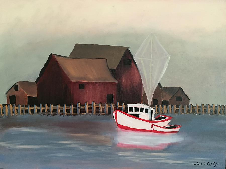 Sail Boats Painting - Safe sailing by Ramya Sundararajan