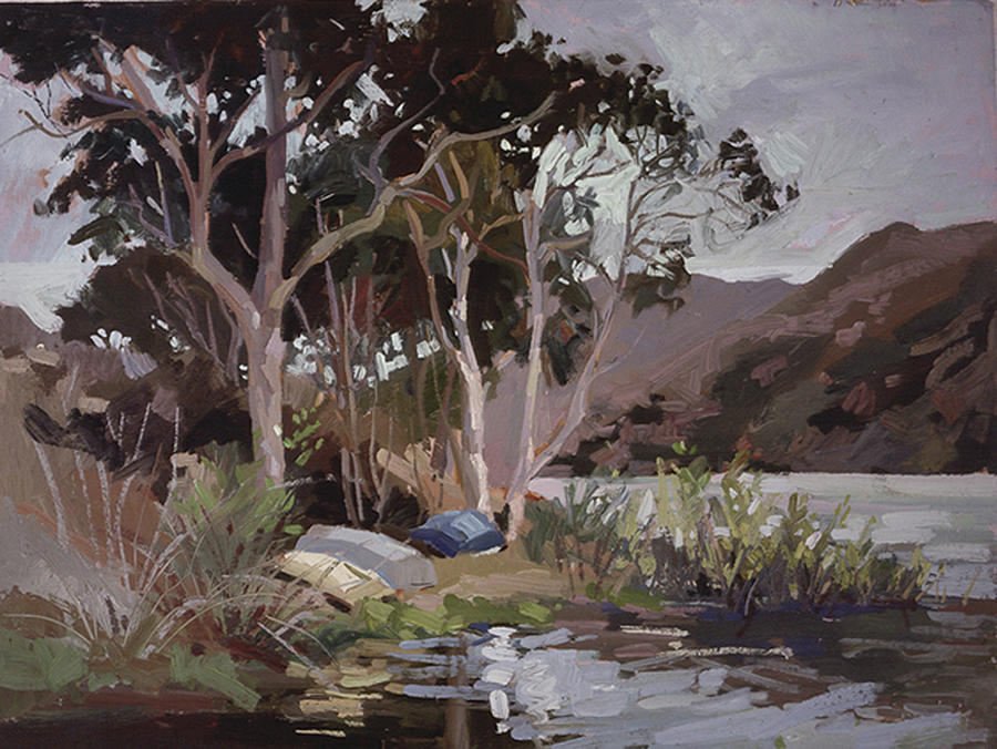 Plein Air Painting Painting - Safe Shelter  - Plein Air - Catalina Island by Betty Jean Billups