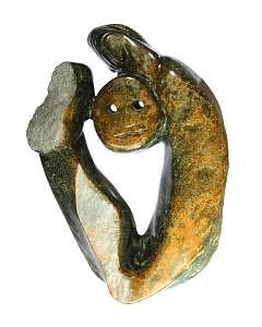 Stone Sculpture Sculpture - Safe Within Myself by Shaine Lewthwaite