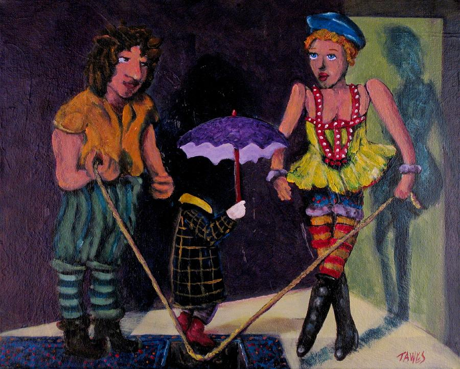 Acrylic Painting - Safety Net Without Strings by Dennis Tawes