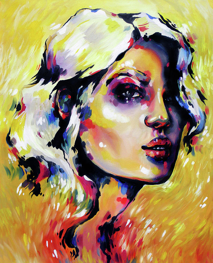 Portrait Painting - Saffron by Ashley Dorney